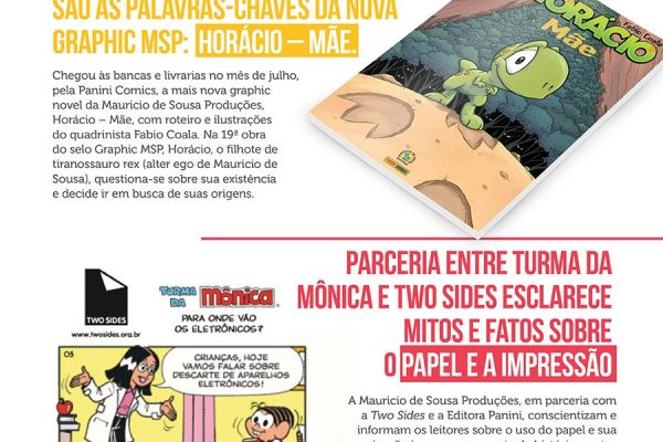 Two Sides em newsletter da Turma da Mônica