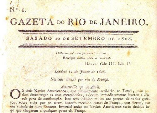 Há 210 anos saia o primeiro jornal impresso do Brasil