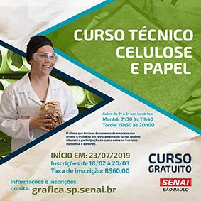 Inscrições para o curso Técnico de Celulose e Papel – SENAI