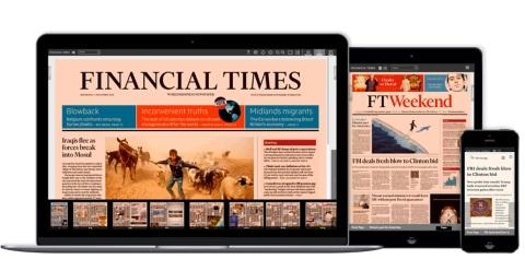 Jornal britânico Financial Times atinge marca de 1 milhão de assinantes