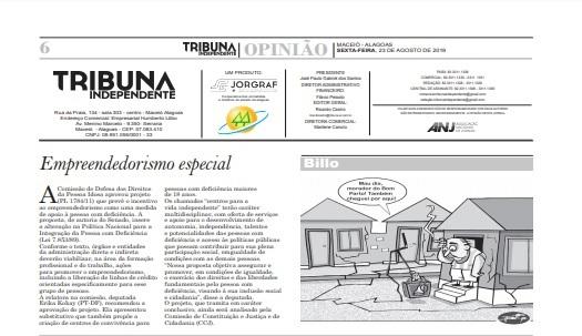 Two Sides no Jornal Tribuna Independente de Maceió