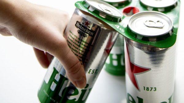 Heineken terá anel de papel cartão para agrupar latas
