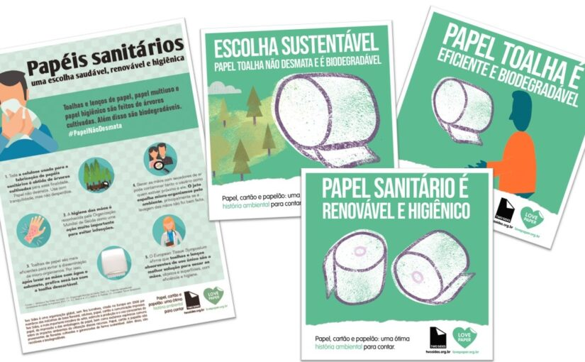 Celulose e papéis para usos sanitários